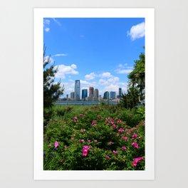 View Onto Jersey City Art Print