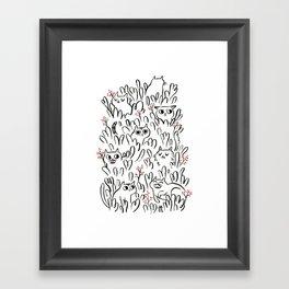 Kitty Forest Framed Art Print