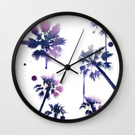 Sunset Palm Trees Wall Clock