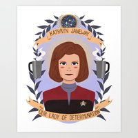 heymonster Art Prints featuring Kathryn Janeway by heymonster