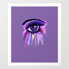 Rainbow anime eye Art Print