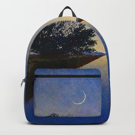 Hot Springs, Yavapai, Arizona landscape painting by Maxfield Parrish Backpack