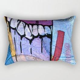 Open Abstract 3 Rectangular Pillow