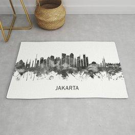 Jakarta Indonesia Skyline BW Rug