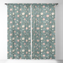 Floral Flying Keys Sheer Curtain