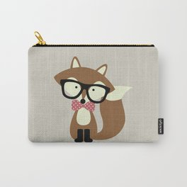 Glasses and Bow Tie Hipster Brown Fox Carry-All Pouch