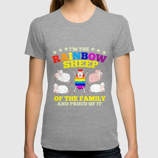 LGBT pride rainbow sheep family gift by mrniceguy83