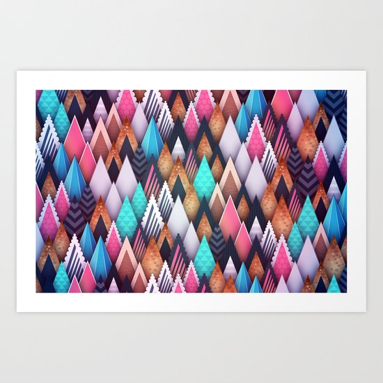 Background pattern 4 Art Print