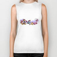 kirby Biker Tanks featuring Kirby Friends by Sara Goetter