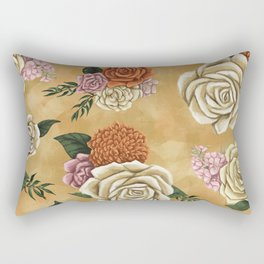 Gold luxury floral Rectangular Pillow