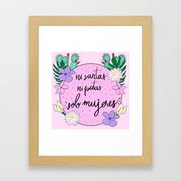 Sólo Mujeres Framed Art Print