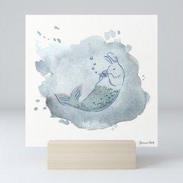 Panflute Merbunny Mini Art Print