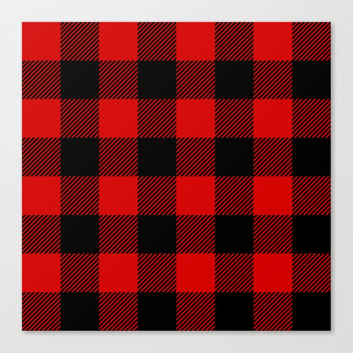 Red Lumberjack Pattern Leinwanddruck