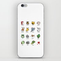hotline miami iPhone & iPod Skins featuring Hotline Miami by Jarvis Glasses