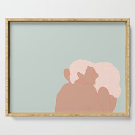 Couple kissing Serving Tray