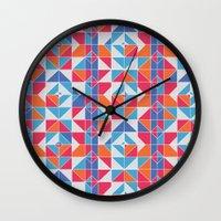 portugal Wall Clocks featuring Portugal by Stephanie Anne Design