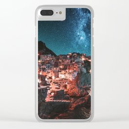 manarola by night Clear iPhone Case