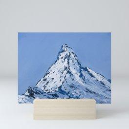 Matterhorn. Zermatt. Winter afternoon Mini Art Print