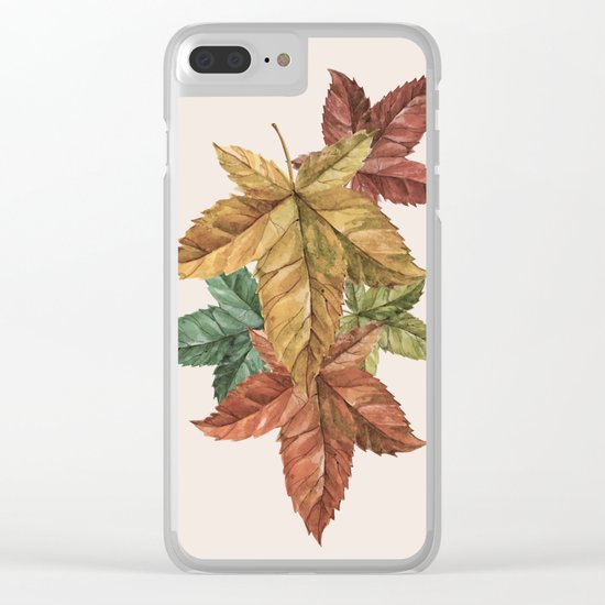 Memories of Leaves Clear iPhone Case
