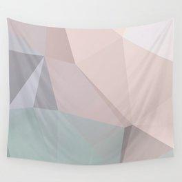 Pastel 2 – poster minimal, pure, creme beige art, rose blue nude art, geometric, scandinavian art Wall Tapestry