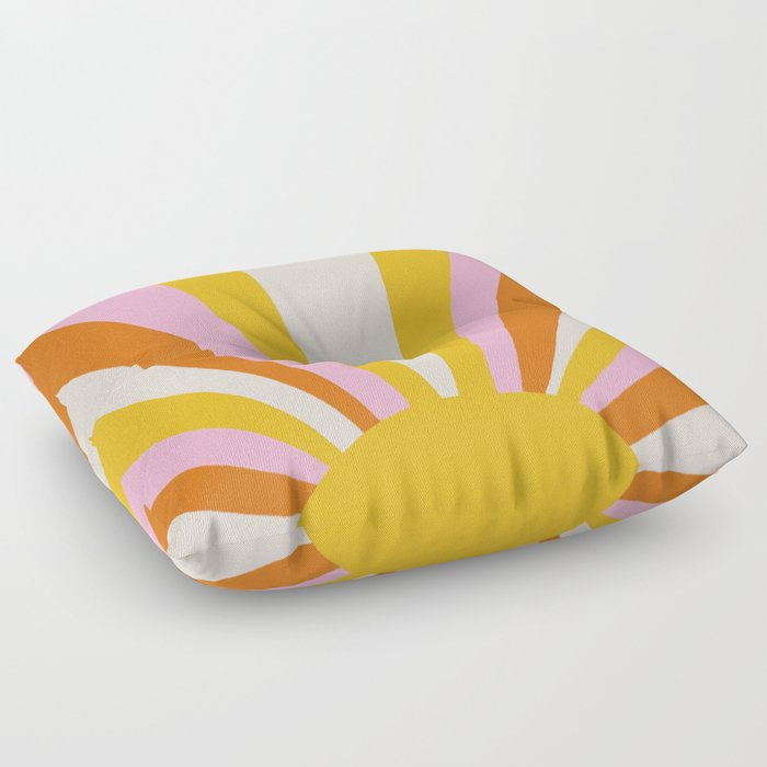 sunshine state of mind Floor Pillow