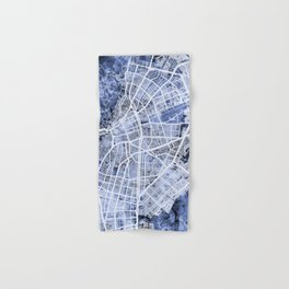 Cali Colombia City Map Hand & Bath Towel