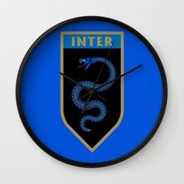 Milan Blue Badge Wall Clock