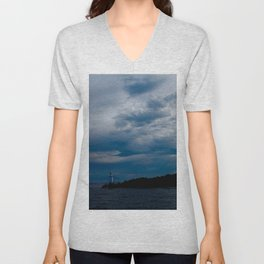 Lighthouse Storm Unisex V-Neck