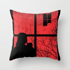 A Strange Encounter Throw Pillow
