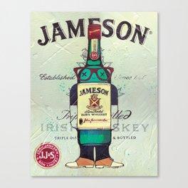 Irish Whiskey cartoon illustration original painting print Canvas Print
