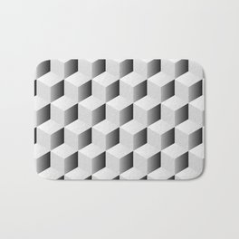 Isometric Cube Pattern Bath Mat