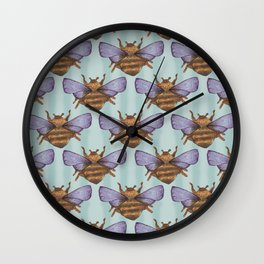 sky bee pattern Wall Clock