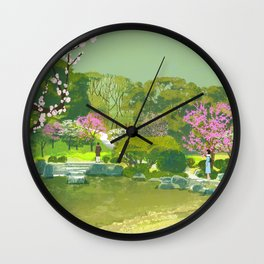 Ume Blossoms Wall Clock