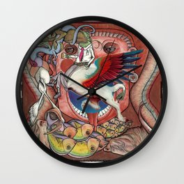 Emotional Food Chain Wall Clock