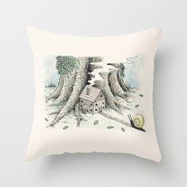 'A Visitor' (Colour) Throw Pillow