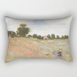 Poppies, Claude Monet, 1873 Rectangular Pillow