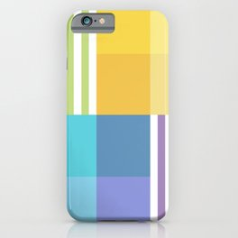 Fig. 055 Colorful Rainbow Patches & Stripes iPhone Case