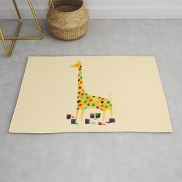 Paint by number giraffe Rug