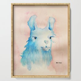 Blue Llama Serving Tray