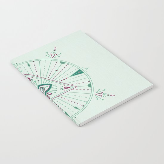 Evil Eye Mandala – Mint Notebook