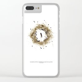 nature mandala... reeds, vines, juniper berries, jay feather Clear iPhone Case