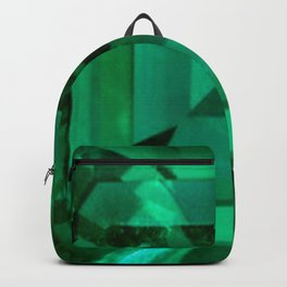 FACETED EMERALD GREEN MAY GEMSTONE Backpack