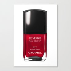 Nail Polish Rouge Rubis Canvas Print