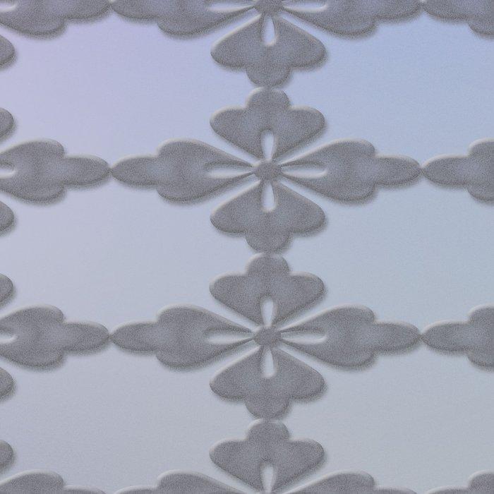 Soft Ornate Grid Pattern Leggings