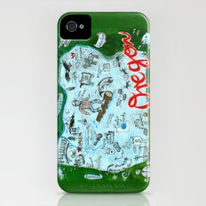 Map of Oregon iPhone (4, 4s) Slim Case