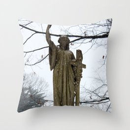 M'Lady in the Snow Throw Pillow