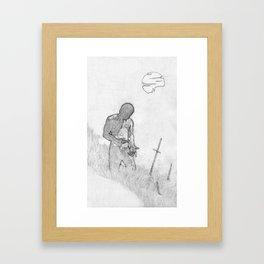 Watch Me While I Sleep Framed Art Print