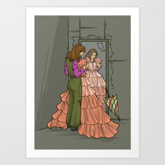 The Shindig Dress Art Print