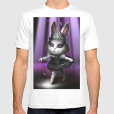 Black swan bunny Mens Fitted Tee MEDIUM White