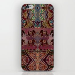 Floral Elephants #2 iPhone Skin